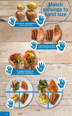 child hand serves